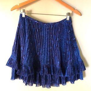 Banana Republic Snakeskin Pleated Mini Skirt